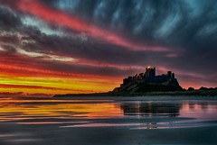 Morning-Glory (petefoto) Tags: longexposure pink red sea seascape beach wet yellow clouds sunrise colours atmosphere northumberland coastal filters bamburghcastle nikond700 bestcapturesaoi mygearandme mygearandmepremium mygearandmebronze mygearandmesilver mygearandmegold mygearandmeplatinum mygearandmediamond leefilters09sgrad