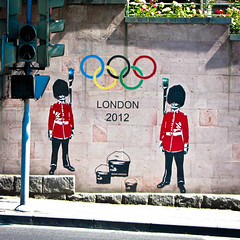 London 2012 (MastaBaba) Tags: uk red london wall mural paint embassy armenia decal olympic guards yerevan 2012 20120603