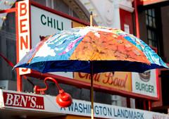 Umbrella in front of Ben's (vpickering) Tags: festival festivals funk ustreet funkfestival ustreetfunkparade