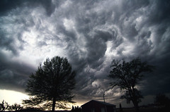 Storm Clouds (Simply Vintagegirl) Tags: blue sky storm rain weather clouds skyscape landscape wind gray indiana windy stormy creation majestic breathtaking godscreation