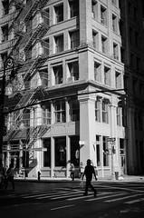 Silhouette Man (Van Cortlandt) Tags: street leica nyc newyorkcity blackandwhite bw film monochrome analog 35mm monocromo manhattan analogue filmcamera elmar biancoenero analogic filmphotography blackandwhitefilm filmphotos leicam3 leicam 35mmcolorfilm analoguephotography elmar28 amatuerphotography