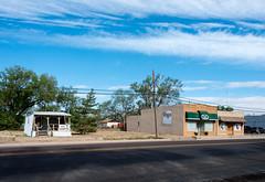 Historic Route 66 - Vega, Texas (MikePScott) Tags: road street camera usa sign logo lens highway streetlight boulevard texas unitedstates motorway streetlamp pavement flag banner sidewalk lamppost freeway avenue vega builtenvironment architecturalfeatures historicroute66 nikond800 nikon28300mmf3556 featureslandmarks