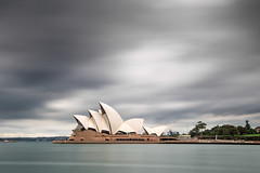 Day 18 - 70 sec (PiotrHalka) Tags: ocean city longexposure winter bw water clouds 35mm nikon opera harbour sunday sydney sails circularquay nsw newsouthwales daytime cbd operahouse d600 nd110 nd30