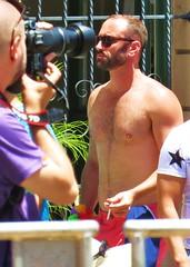 LBPride14 077 (danimaniacs) Tags: shirtless man hot sexy guy beard hunk parade longbeach gaypride lbpride14