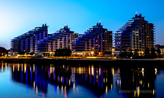 096 (Andrew Theodoropoulos) Tags: city uk england moon london thames architecture buildings reflections nikon sigma battersea riverthames wandsworth moonglow andrewtheodoropoulos mashwindowcom