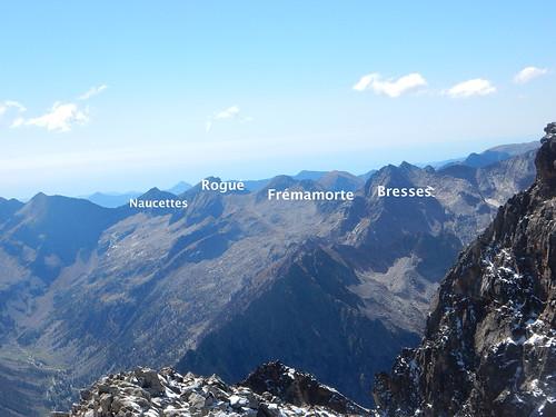 Vue de la Cime Est du Matto (à gauche de la Cime Centrale)