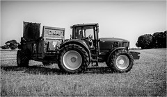 Stainton . (wayman2011) Tags: fujifilmx70 lightroom wayman2011 bwlandscapes mono tractors farming farmmachinery pennines dales teesdale stainton countydurham uk
