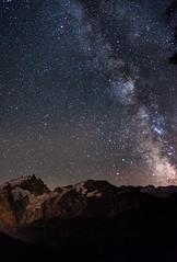 Voie Lacte Meijestueuse (Baptiste Baudry) Tags: vert mountain milky landscape night sky meije nature light dark stars galaxy montagne paysage voie lacte ciel nuit lumire toiles