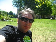 In the pavillion garden
