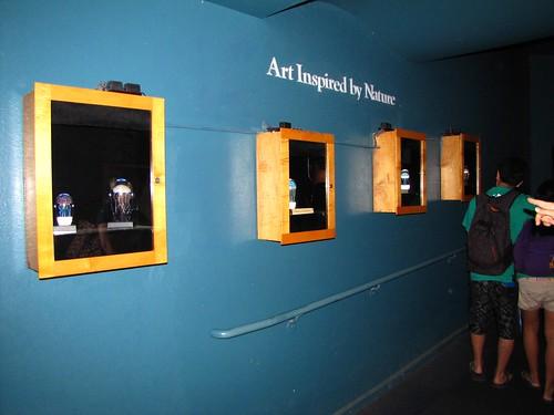 glass jellyfish on display