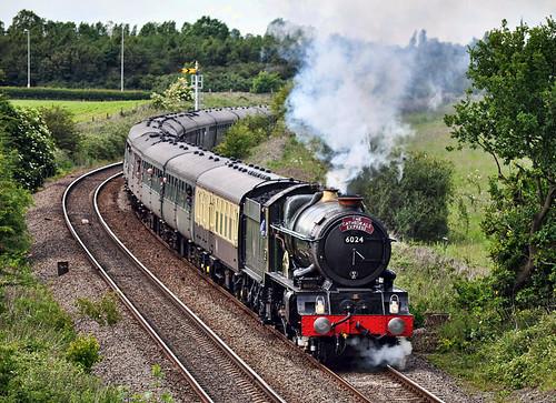 6024 southbound from Shrewsbury (geoffspages) Tags: geotagged shropshire railway steam shrewsbury uksteam kingedwardi geo:lat=526767572962243 geo:lon=2754573667778004