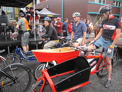 Cirque du Cycling_31 (METROFIETS) Tags: green beer bicycle oregon garden portland construction paint nw box handmade steel weld coat transport craft cargo torch frame pdx custom load cirque woodstove builder haul carfree hpm suppenkuche stumptown paragon stp chrisking shimano custombike cargobike handbuilt beerbike workbike bakfiets cycletruck rosecity crafted 4130 bikeportland 2011 braze longjohn paradiselodge seattlebikeexpo nahbs movebybike kcg phillipross bikefun obca ohbs jamienichols boxbike handmadebike oregonhandmadebikeshow nntma hopworks metrofiets cirqueducycling oregonmanifest matthewcaracoglia palletbike oregonframebuilder seattlebikeshow bikefarmer trailheadcoffee cargbikerace