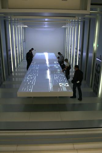 BMW Chronologie Raum mit interaktiven Tisch