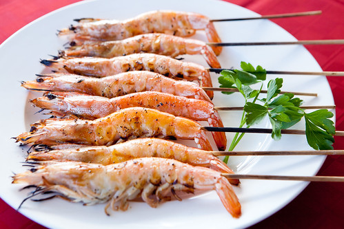 Salt-grilled Head-on Shrimp