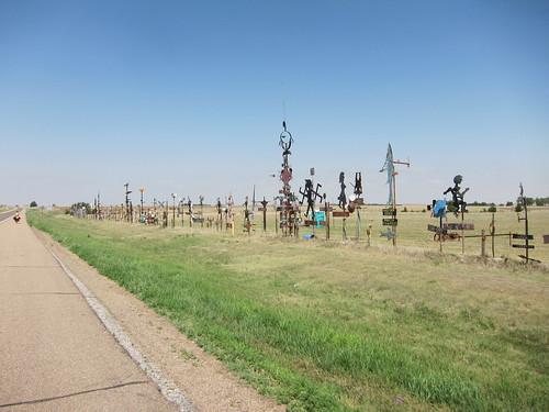 Weird roadside monument