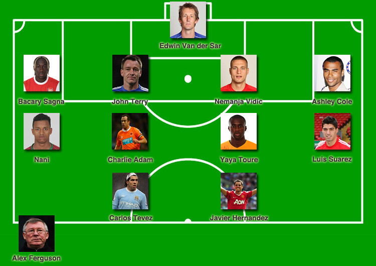 premier league team of the season xi 2011