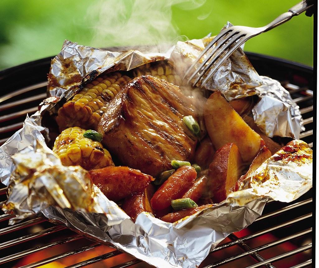 Grilled Honey BBQ Pork Packs Recipe