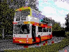 7001 Leyland Atlantean, ZX Spectrum style (Mancunian1001) Tags: parkroyal sinclairresearch sirclivesinclair leylandatlantean selneccentral zxspecttrum