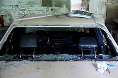 Automaker (Dirk Lambrichts) Tags: auto flower broken glass canon eos mercedes glas bloem urbex scherven gebroken doel ghostvillage stuk verlaten 60d spookdorp hoofdsteunen radiatorrooster