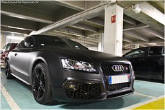 Audi A5 Caractere Black Matte (Driss Romain Dinar (Grand-Est-Supercars.com)) Tags: white black ford chevrolet grey one mercedes cab cadillac camaro bmw mustang m3 audi edition a5 coupe v8 matte coup amg ctsv r8 grise caractere rs5 c63