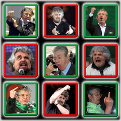 Aguzza la vista: - trova le differenze - (Gian Boy) Tags: grillo bossi lega populismo antipolitica gianboy