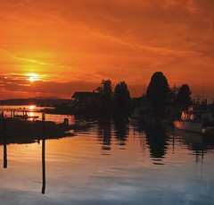 village (mogew) Tags: sunset water beautiful river bay washington village northwest shoreline samish rivermouth samishriver