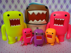 Domos....all shapes and sizes (Kewty-pie) Tags: pink orange yellow neon blacklight domo qee darkhorse