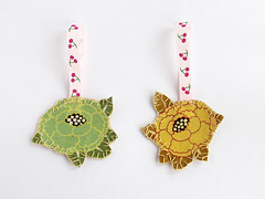 Flower bookmark (Coco_Flower) Tags: flower illustration vintage colorful handmade embroidery brooch jewelry bookmark