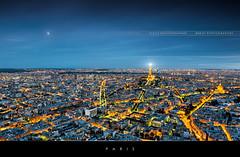Paris by night (Beboy_photographies) Tags: panorama paris france les skyline tour eiffel invalides toureiffel montparnasse nuit hdr lesinvalides panoramique tourmontparnasse