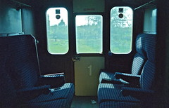 First Class - Southern Style HR scan (Deepgreen2009) Tags: door slam diesel first class compartment southern behind standards lag 3h unit dmu