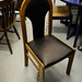 Leather effect dining chair