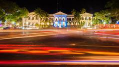 Light Trails - Ilocos Norte Capitol (remarlapastora) Tags: city travel light night photography philippines trails backpacking ilocos laoag norte