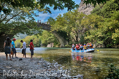 An alternative daily routine (Dimitil) Tags: people nature reflections bridges greece d300 travelphotography epirus  konitsa stonebridges  rivervoidomatis
