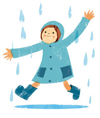 kodomo in the rain (Kyoko Nemoto) Tags: rain illustration photoshop children book drawing childrens illustrator kyoko      nemoto