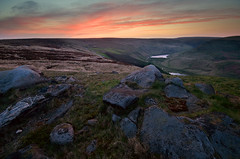 Sunrise Over Saddleworth (andy_AHG) Tags: morning sunrise outdoors spring peakdistrict yorkshire hills moors pennines beautifulscenery pursuits britishcountryside dovestone saddleworthmoor aldermanshill greenfieldbrook yeomansheyreservoir