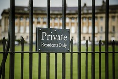 Private Garden (Paul *) Tags: city sign metal fence garden private bath royal crescent georgian