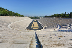 Olympic Stadium Wide LR (Jack Nevitt) Tags: stadium steps tunnel athens countries greece marble olympic athletes showcase plaques 1896