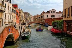 Venice : View from Ponte dei l'Aseo  ( Italian Ponte dell'Aseo ) (Pantchoa) Tags: venice venezia italia italy veneto cannaregio pontedelaseo nikon d7100 riodeiormesini pontedibetana rioormesini fondamentadellamisericordia boat tokinaaf1228mmf4 tokinaatx1228f4prodx 28mm pantchoa pantxoa