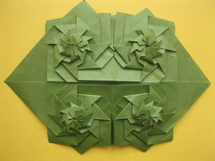 Chris Palmer's Flower Tower Tessellated (georigami) Tags: paper origami papel papiroflexia