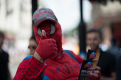 Thumbs up from Spiderman