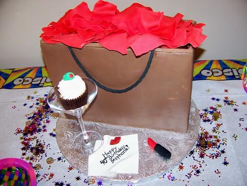 The RedHeaded Baker 40th Birthday Cake