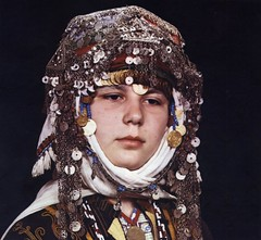 Headdress of a Turkmen bride, Merkez Kapıkaya, Turkey (ali eminov) Tags: costumes turkey women coins jewelry brides headdress turkmen headscarves folkcostumes womenscostumes bridalheaddress turkmencostumes