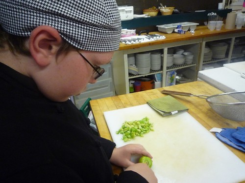 Liam works on Tomatillos!