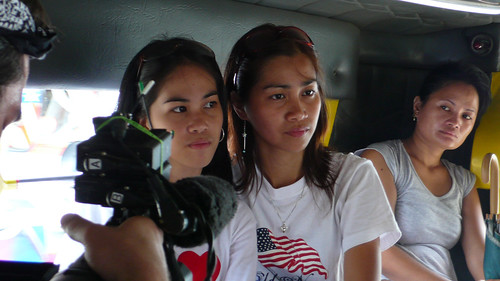 Angel Alim and her sister, Me-an, in a jeepney. Manila, Philippines. (Photo credit: Paul Flinton)