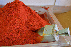 Smoked Paprika (Chrissy Olson) Tags: red food colorful flavor spice eat morocco maroc marrakech souk scoop