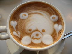 A seal in my coffee cup! (seikinsou) Tags: fish cup coffee japan port design cafe kobe seal latte