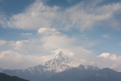 Macchapuchre (escher is still alive) Tags: nepal mountains trekking himalaya annapurna annapurnabasecamp annapurnasanctuary