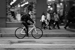 Cycleness yesness (R o s e n d o) Tags: street chicago girl bicycle legs spin wheels cage front chain cycle backpack hi brake handlebar rim rider saddle abovetheline