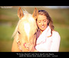 """""""A horse doesn't care how much you know, until he knows how much you care."""" (Sasha L'Estrange-Bell) Tags: horse girl quote palomino palominohorse oliviabell quoteproject"""