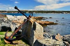 Anchor on Shore (jeffb477) Tags: park sky canada nature water coast novascotia canadian atlantic anchor d7000
